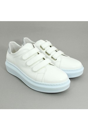 Cudo Cırtlı Kadın Günlük Spor Ayakkabı-Krem-113306-04
