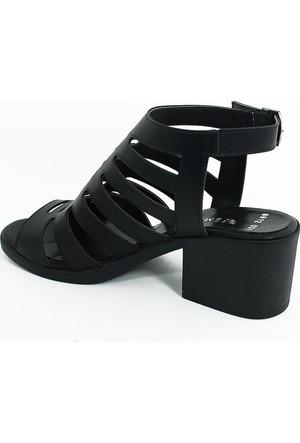 Femmina Kadın Kısa Topuklu Ayakkabı-Siyah-113349-03