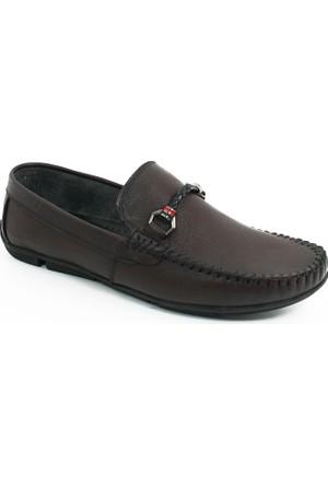 Ernesto Erkek Hakiki Deri Klasik Ayakkabı-Bordo-113359-01
