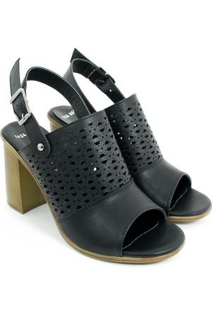 Femmina Kadın Topuklu Ayakkabı-Siyah-113375-02