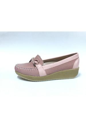 Bellitaş Yüksek Hasır Taban Kadın Ayakkabı