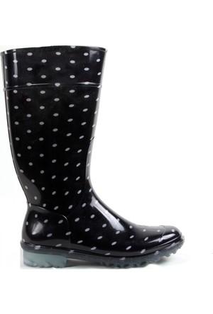 Gezer Puantiyeli Kadın Yağmur Çizmesi