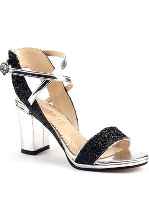 Dochka 223 Günlük Taşlı 7,5 Cm Topuklu Sandalet Bayan Ayakkabı