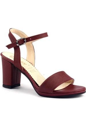Classy 243 Günlük 7,5 Cm Topuklu Sandalet Bayan Cilt Ayakkabı