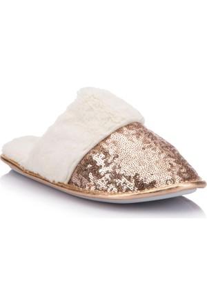 DeFacto Payetli Peluş Ev Ayakkabısı
