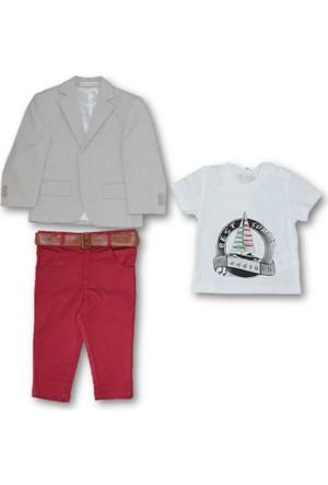 Monna Rosa Ceketli 3'lü Erkek Bebek Takım