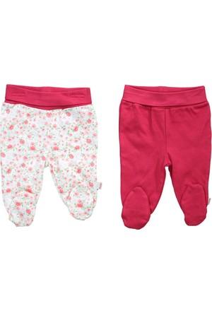 Bebetto Penye Patikli Çiçekli 2'li Kız Bebek Pantolon