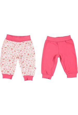 Bebetto Penye Patiksiz Çiçekli 2'li Kız Bebek Pantolon