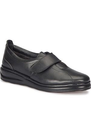 Polaris 5 Nokta 72.110020.Z Siyah Kadın Deri Ayakkabı