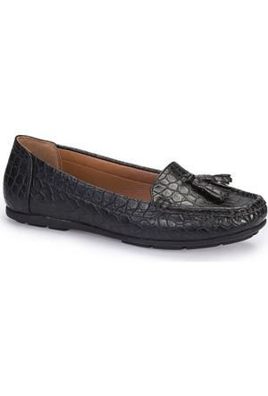 Polaris 62.156907.Z Siyah Kadın Loafer Ayakkabı