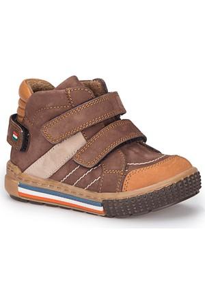 Polaris 72.509581.B Kahverengi Erkek Çocuk Deri Sneaker Ayakkabı