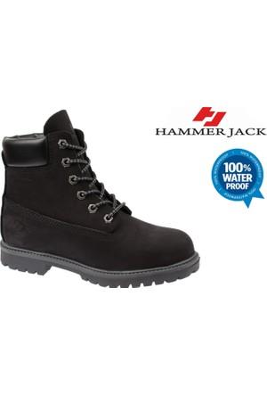 Hammer Jack Su Geçirmez Hakiki Deri Kadın Bot - Hmr 1101Z Siyah Nubuk