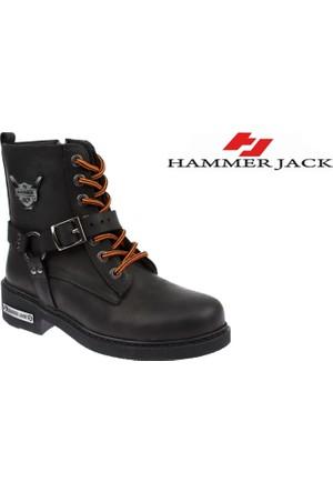 Hammer Jack Hakiki Deri Kadın Bot - Hmr 15950 Siyah