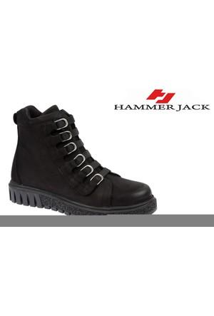 Hammer Jack Hakiki Deri Kadın Bot - Hmr 17955 Siyah