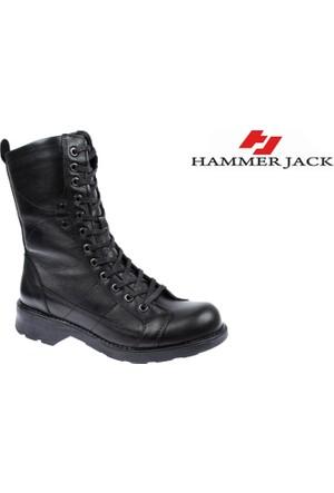 Hammer Jack Hakiki Deri Kadın Bot - Hmr 2977 Siyah