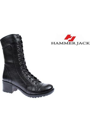 Hammer Jack Hakiki Deri Kadın Bot - Hmr 2979 Siyah