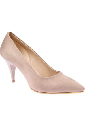 Shalin Klasik Vizon Süet Kadın Ayakkabı - 015