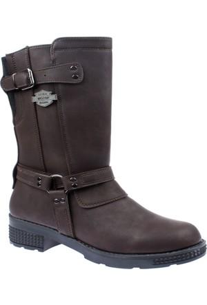 Shalin Kadın Çizme - Çvş 27265 Kahverengi