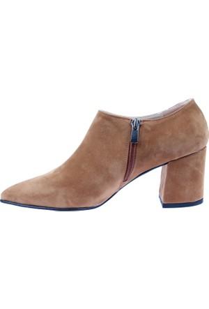 Shalin Ökçeli Kadın Ayakkabı - Bşk 250 Taba Nubuk