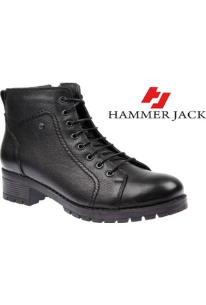 Hammer Jack Hakiki Deri Kadın Bot - Hmr 16464 Siyah