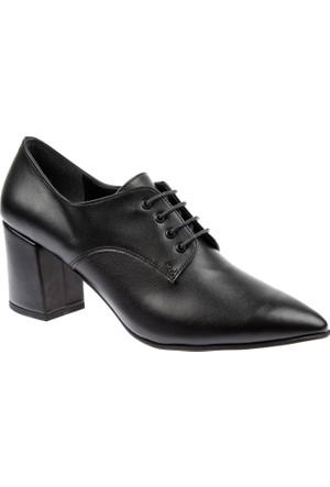 Shalin Ökçeli Kadın Ayakkabı - Bşk 7898 Siyah Mat