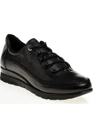 Derigo Gerçek Deri Bayan Casuel Ayakkabı Siyah 555235