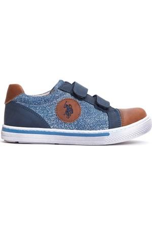 U.S. Polo Assn. Erkek Çocuk K7Wilson Ayakkabı Mavi