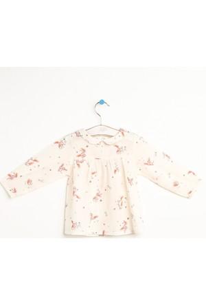 Hello Baby Çıtçıtlı Baskılı Gömlek