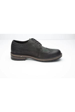 Shop And Shoes 003-15650-M Erkek Ayakkabı Siyah Nubuk