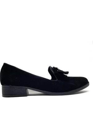 Shop And Shoes 013-15 Kadın Ayakkabı Siyah Süet