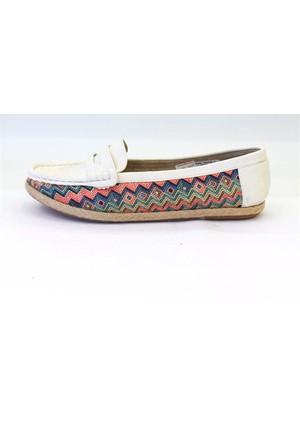 Shop And Shoes 013-1603 Kadın Babet Beyaz