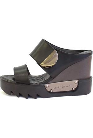 Shop And Shoes 015-6519 Kadın Terlik Siyah