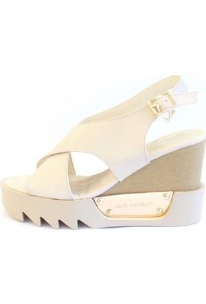 Shop And Shoes 015-670 Kadın Ayakkabı Bej