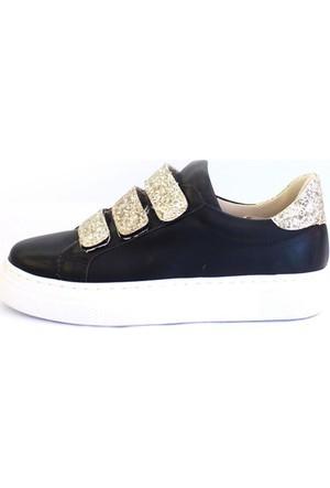 Shop And Shoes 031-102 Kadın Ayakkabı Siyah Altın