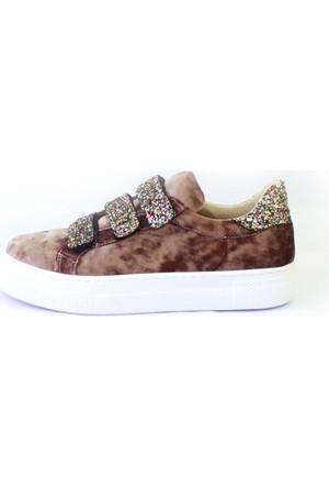 Shop And Shoes 031-102 Kadın Ayakkabı Kum Kadife