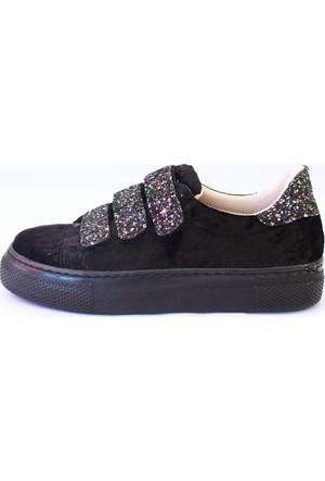 Shop And Shoes 031-102 Kadın Ayakkabı Siyah Gümüş