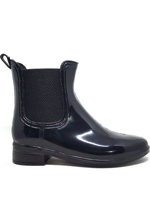 Shop And Shoes 062-035 Kadın Yağmur Botu Siyah