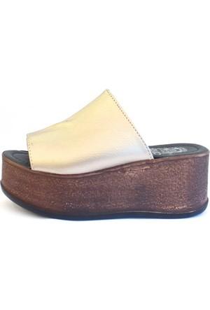 Shop And Shoes 066-5212 Kadın Terlik Altın