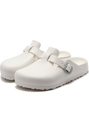 Birkenstock 105-1002315E Boston Eva Erkek Sandalet White