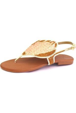 Shop And Shoes 117-316 Kadın Sandalet Altın