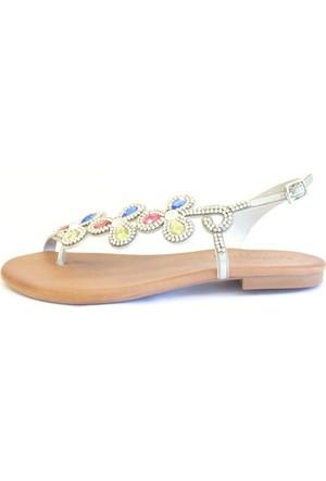 Shop And Shoes 117-360 Kadın Sandalet Gümüş