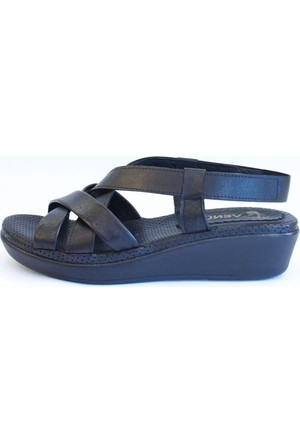 Shop And Shoes 121-094027 Kadın Sandalet Siyah
