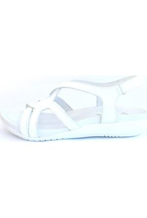 Shop And Shoes 121-206 Kadın Sandalet Beyaz