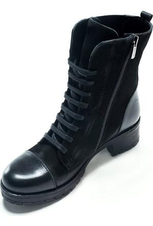 Shop And Shoes 121-3304 Kadın Bot Siyah Nubuk