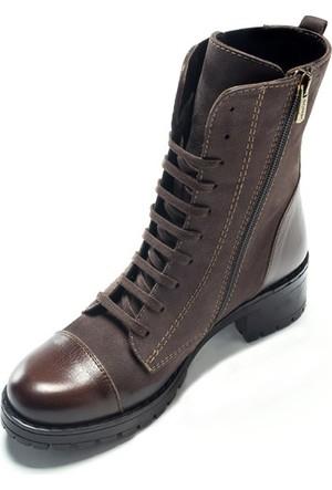 Shop And Shoes 121-3304 Kadın Bot Vizon Nubuk