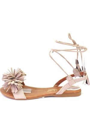 Shop And Shoes 127-1725 Kadın Sandalet Kum Süet