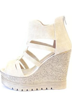 Shop And Shoes 127-561 Kadın Ayakkabı Bej Kot