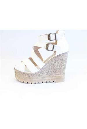 Shop And Shoes 127-567 Kadın Ayakkabı Beyaz