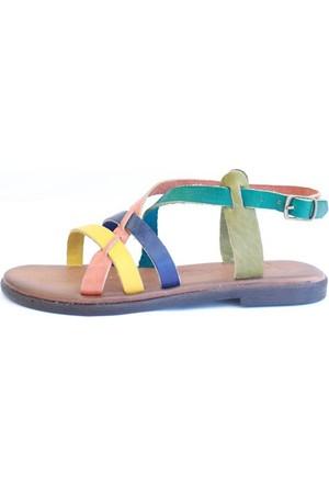 Shop And Shoes 155-1005 Kadın Sandalet Multi
