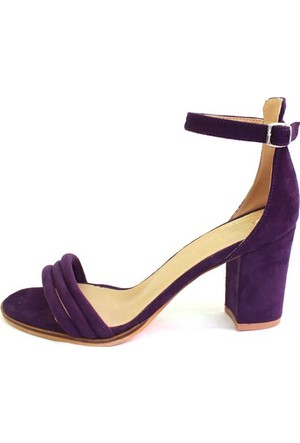 Shop And Shoes 155-1006 Kadın Ayakkabı Mor Süet